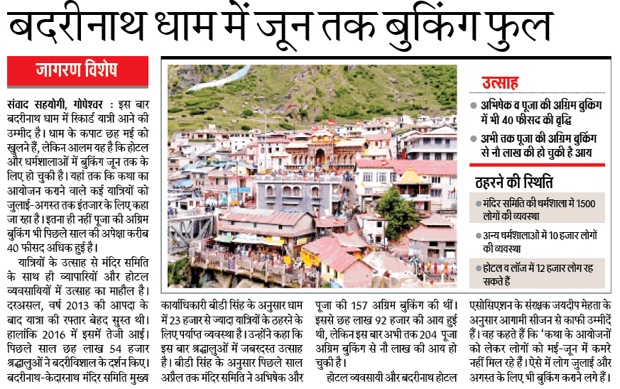 Latest Badrinath Dham News 2017