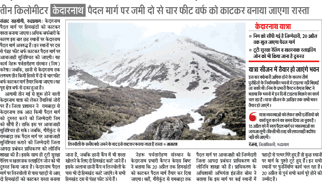 Latest Kedarnath News 2017