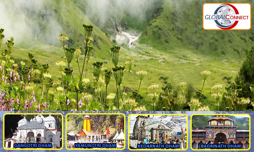 Chardham With Velley Of Flowers From Delhi